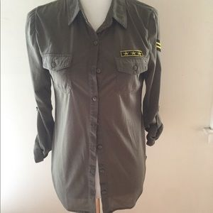 Women's Military Button Down
